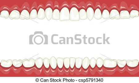 Teeth clipart background Teeth cartoon csp5791340 with Funny