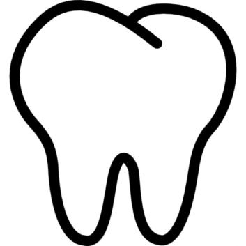 Teeth clipart background Tooth Cool Outline 3835 No
