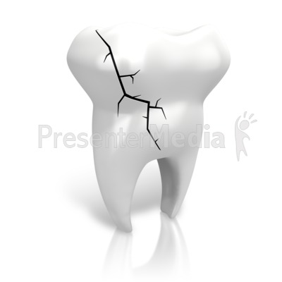 Teeth clipart broken tooth  Art Cracked Tooth Tooth