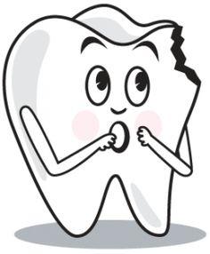 Teeth clipart broken tooth Vector in on We've Pinterest
