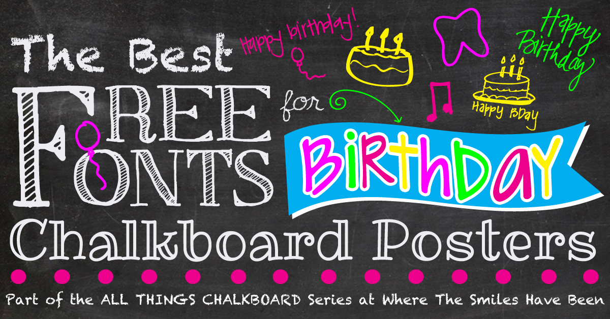 Birthday clipart chalkboard Birthday The Posters! Chalkboard Free