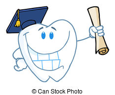 Teeth clipart dental school Diploma Clipart Tooth Character Holding
