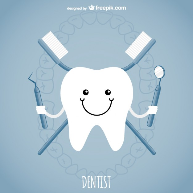 Teeth clipart dentista And dentista Conceito Dental vector