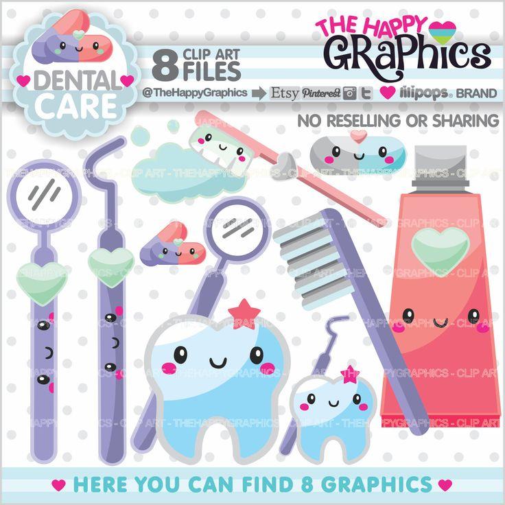 Teeth clipart dentista Clipart COMMERCIAL Graphics Kawaii clipart