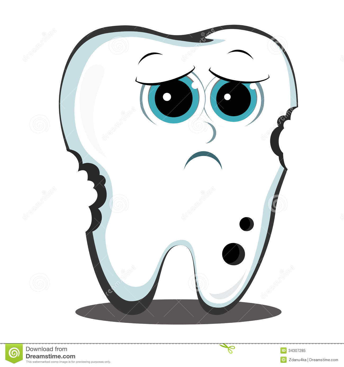 Teeth clipart hurt Sad cliparts Tooth Clipart Tooth