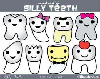Teeth clipart kawaii Tooth Etsy Clipart Studio Clipart