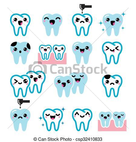 Teeth clipart kawaii Teeth Japanese  character Kawaii