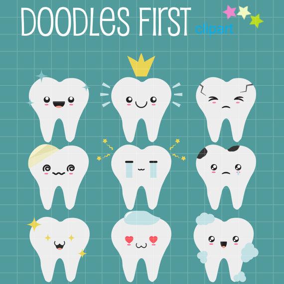 Teeth clipart kawaii Toppers Card Crafts Teeth Clip