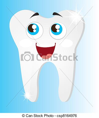 Teeth clipart shiny tooth Of blue Vector Art teeth