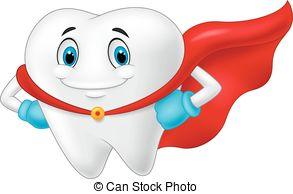 Teeth clipart strong tooth Happy A Vector healthy Cartoon