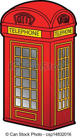 Phone Box clipart Csp14832016 Phone Red Booth of