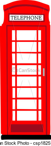 Phone Box clipart Vector csp18259104 phonebooth British phonebooth