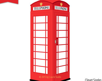 Phone Booth clipart Phone Booth Digital Clipart Clipart