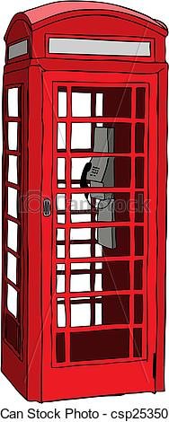 Telephone Booth clipart Illustration Vector British booth booth