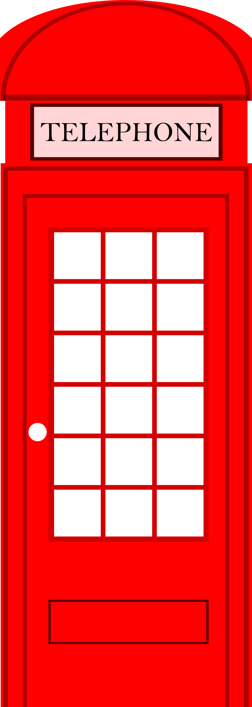 Phone Booth clipart London Box Telephone clipart Scrapbook