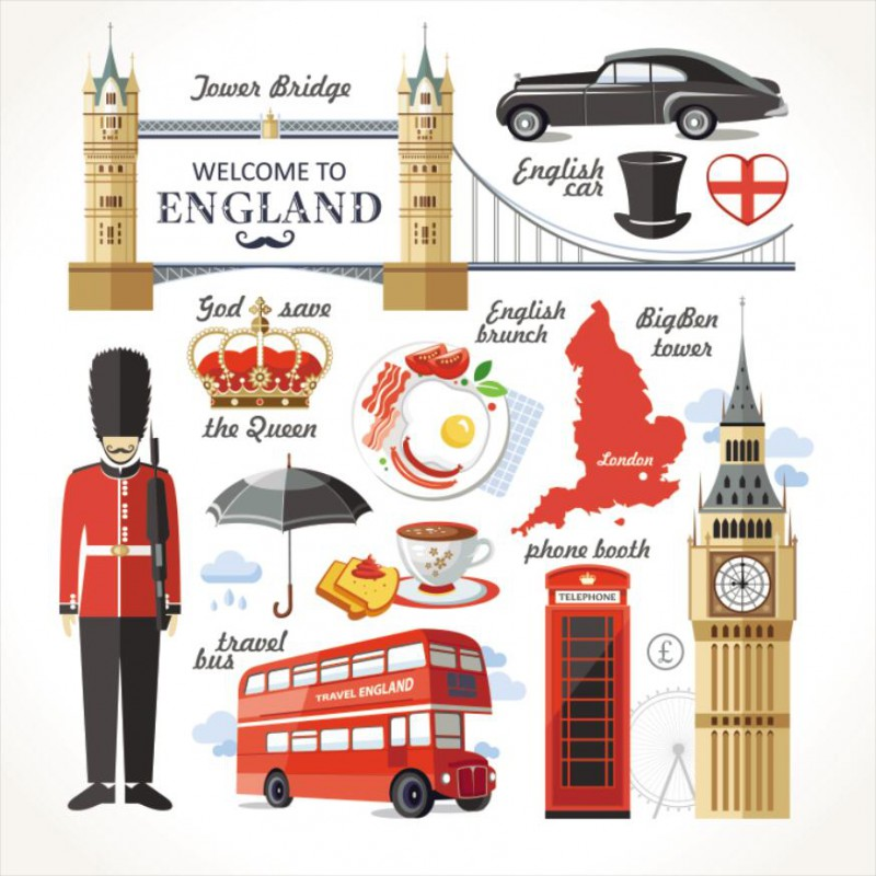 Telephone Booth clipart england map F Landmark F map Concept