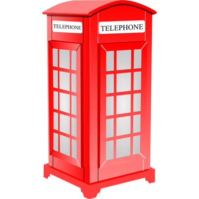 Telephone Booth clipart london PNG StickPNG White Phone London