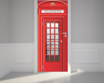 Telephone Booth clipart london Stick Fabric Repositionable Etsy 31