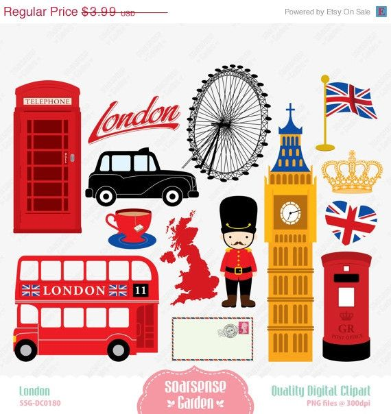 Telephone Booth clipart london double decker bus Clipart 407 London England OFF