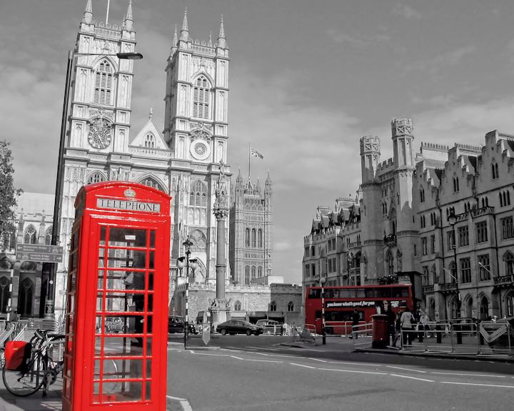 Telephone Booth clipart london double decker bus Abbey Red Booth London Photography