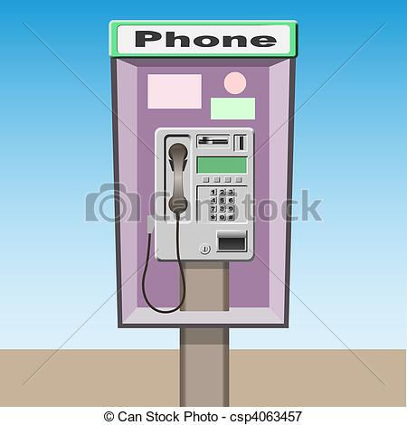 Telephone clipart public phone Vector A Booth of
