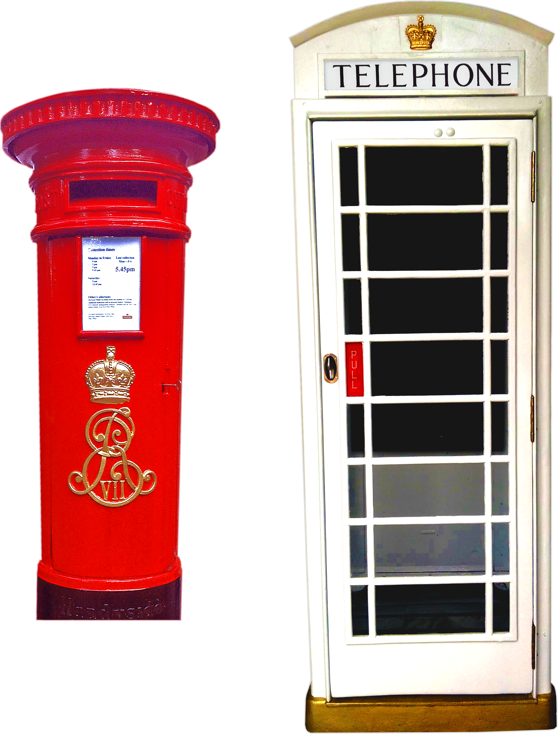 Phone Booth clipart red post box #12