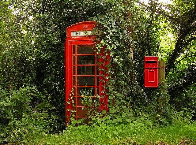 Phone Booth clipart red post box #3