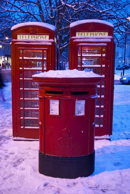Phone Booth clipart red post box #1