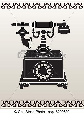 Ancient clipart telephone #2