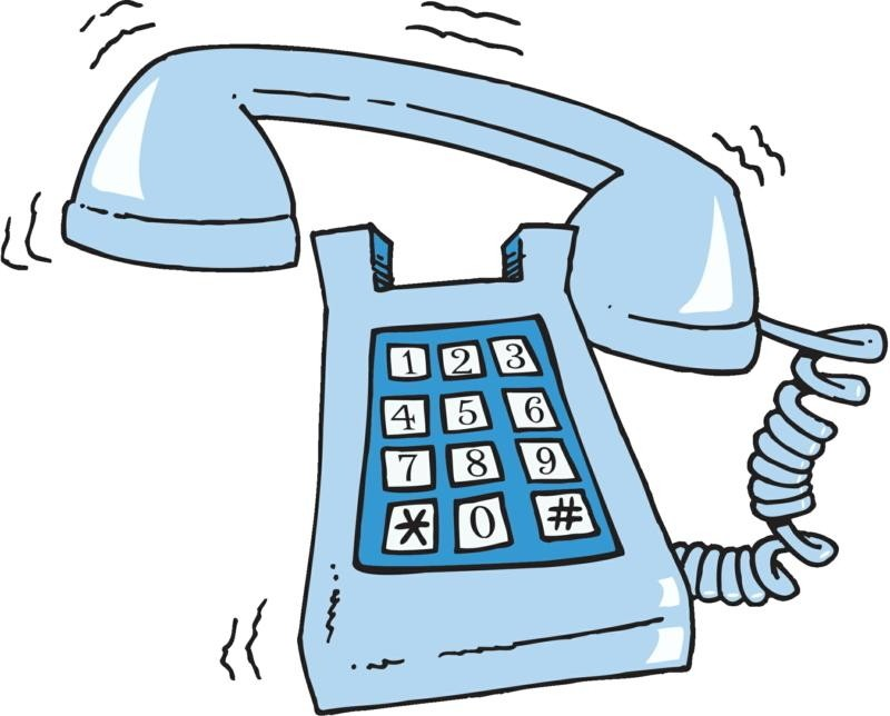 Telephone clipart answer phone I line land answering got
