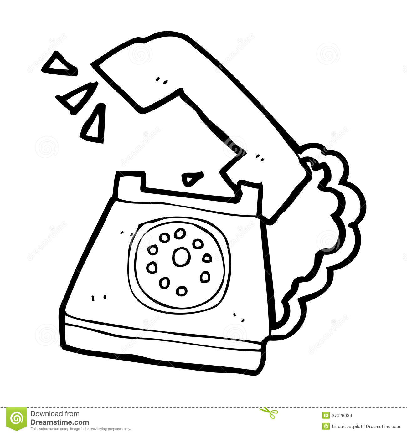 Telephone clipart black and white #11