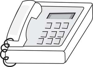 Telephone clipart black and white #8