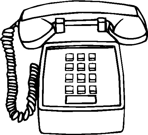Telephone clipart black and white #4