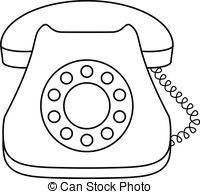 Telephone clipart black and white #10