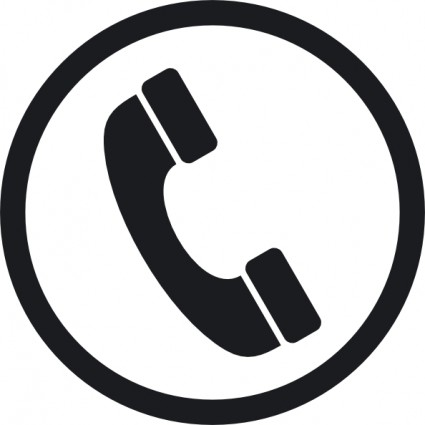 Telephone clipart black and white #14