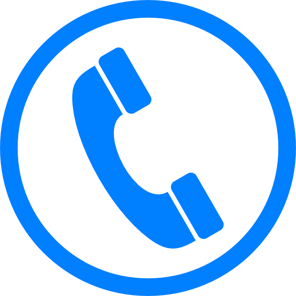 Telephone clipart blue png Clker this Art icon as: