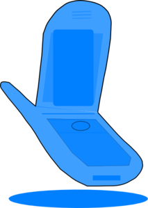 Phone clipart blue cell #1