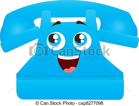 Telephone clipart blue telephone Eyes cartoon telephone and with