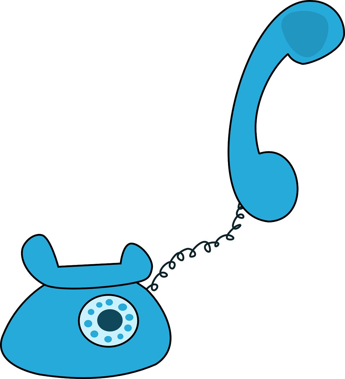 Telephone clipart blue telephone Clip Telephone Cartoon Art Free