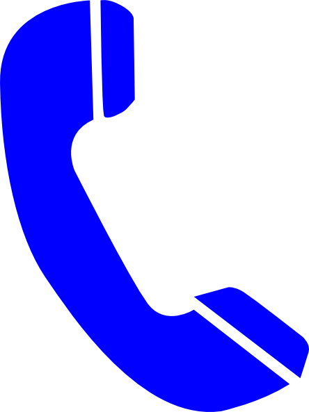 Telephone clipart blue telephone Com at Art royalty