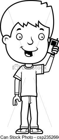 Phone clipart boy Boy Phone Art  Phone