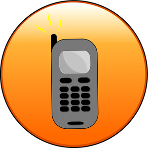 Orange clipart cell phone Phone an orange an orange