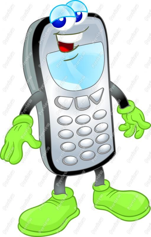 Phone clipart animated #3