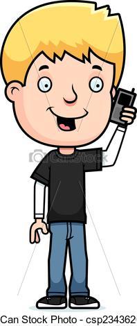 Telephone clipart child Clipart csp23436201 Boy Boy A