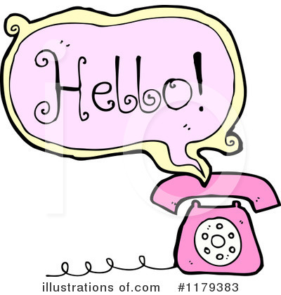 Telephone clipart colorful By (RF) Illustration #1179383 Clipart