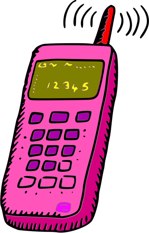 Phone clipart pink Download Phone Phone Art