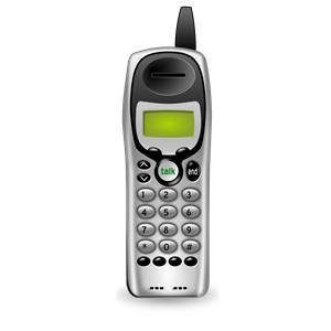 Telephone clipart cordless telephone (no  clipart basestation) Cordless