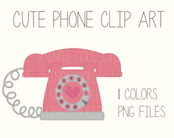 Telephone clipart cute Mobile Phone Instant Planner Printable