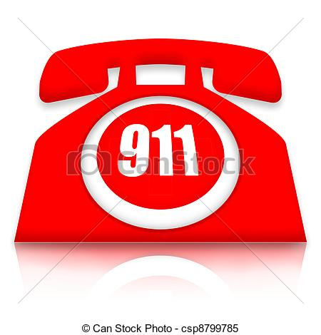 Telephone clipart emergency contact Of 911 Illustrations Phone Stock