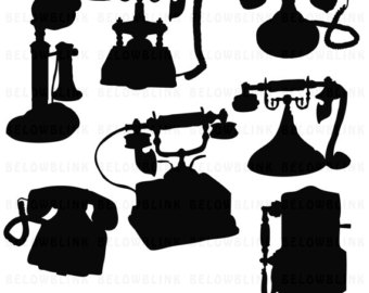 Telephone clipart first telephone Telephone Clipart clipart Instant Etsy